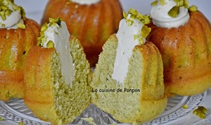 Muffin fondant à la pistache
