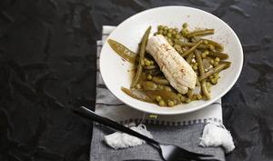 Filets de sole légumes verts et safran