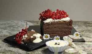 Pavé au chocolat et crème anglaise à la truffe
