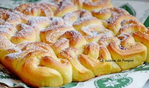 Brioche bouclette à la crème de marron ou confiture de figues