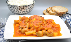 Paupiettes aux légumes et sauce tomate