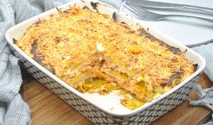 Lasagnes de crêpes au saumon