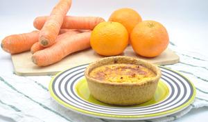 Quiches carottes et lardons au lait de coco