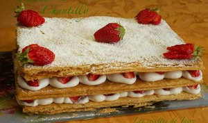 Millefeuilles fraises chantilly