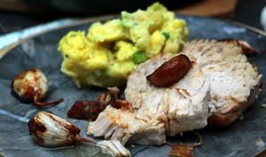 Filet de porc confit à l'ail