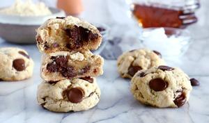 Cookies healthy à l'huile de coco et aux pépites de chocolat