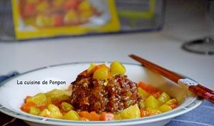Riz rouge au curry coréen
