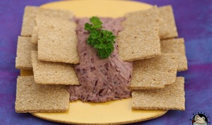 Tartinade d'haricots rouges, crackers potiron