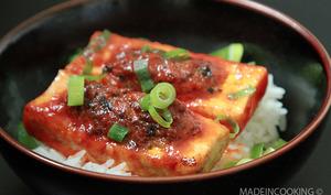 Tofu farci et sauce tomate