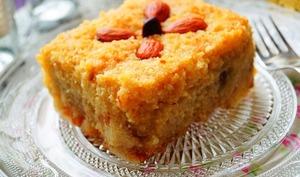 Kalb ellouz gâteau algérien à la semoule