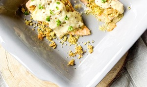 Saumon sauce crémeuse