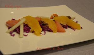 Salade de choux rouge