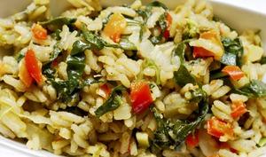 Riz pilaf aux petits légumes de saison