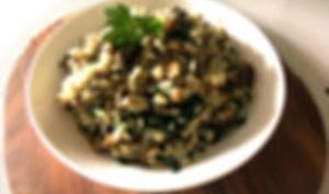 Risotto aux épinards sans beurre