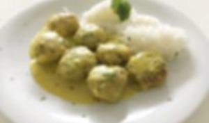 Boulettes de poulet sauce Curry