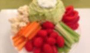 Sauce light et son plateau de légumes