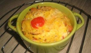 Clafoutis de chips et de tomates cerises
