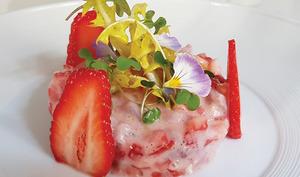 Ceviche de daurade aux fraises Gariguette