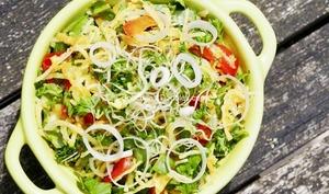 Salade alcaline simple et rapide en 10 mn