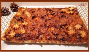 Tarte aux poireaux, pommes de terre et chorizo