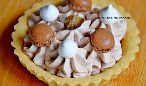 Tartelette garnie de chantilly à la crème de marron