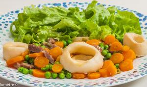 Calamars aux légumes printaniers