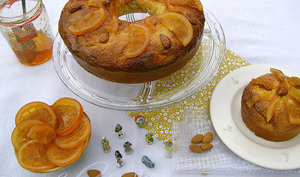 Gâteau des rois aux oranges confites