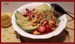 Taboulé de chou-fleur aux légumes et noix de cajou