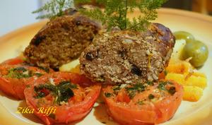 Terrine de veau et tomates sautées à l'ail
