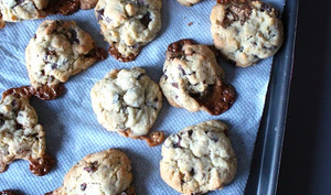 Cookies chocolat caramel aux noix de pécan