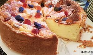 Tarte au fromage blanc et fruits confits