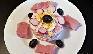 Salade de radis au fromage blanc et tarama