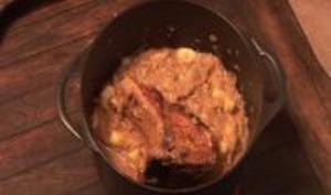 Carré de porc aux pommes et au cidre