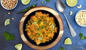 Korma de légumes et pois-chiches