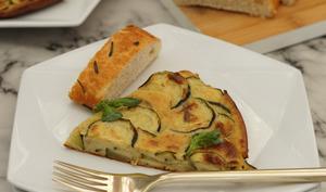Scarpaccia courgette et parmesan