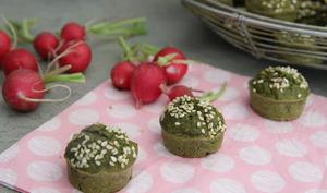 Muffins aux fanes de radis