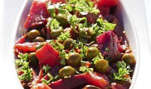 Printanière de légumes rouges