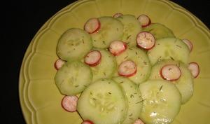 Salade de concombre et de radis
