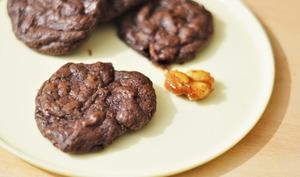 Cookies fondants chocolat cacahuète