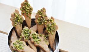 Biscuits fleur d'oranger pistache