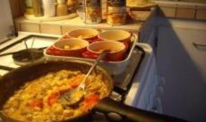 Cassolettes de Champignons et Tomates au Reblochon