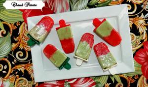Popsicles fraise, basilic et kéfir – Chaud Patate