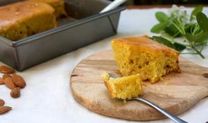 Torta caprese au chocolat blanc et citron