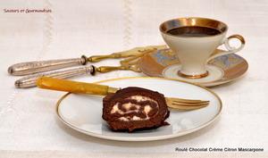 Roulé au Chocolat Crème Citron Mascarpone