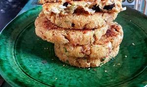 Harcha à la farine complète, au thon et aux olives - Culinaire Amoula