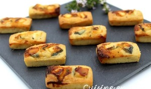 Financier chèvre miel