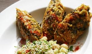 Riz pilaf aux légumes et coulis de tomates