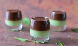 Verrines menthe-chocolat