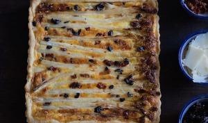 Quiche gourmande aux asperges et olives noires
