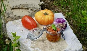 Compotée de tomates anciennes